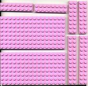 Lego 8 Pink Flat Plates 8x16 2x8 2x12 From Friends Summer Riding Camp 3185