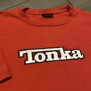 Tonka Toys Vintage T Shirt Adult Large Mens Red 90s Toy Trucks Usa Retro Changes
