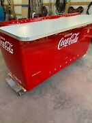 Coca Cola Vintage 1950and039s Machine Restored Made Into Bar