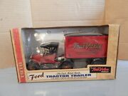 Ertl True Value 1918 Ford Tractor Trailer Bank W/key Die-cast 125 Scale New