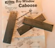 Athearn Ho Blue Box Kit Parts Bay Window Caboose Steel Weights Part 12851 X3