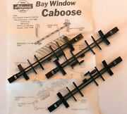 Athearn Ho Bay Window Caboose Blue Box Parts - Underframe Part 12852 3-pack