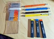 Vtg Faber-castell Xf 9783/9785/9787/9789 Drafting Mechanical Pencil Set And Leads