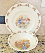 1970and039s Bunnykins Royal Doulton Plate And Cereal Bowl Mint