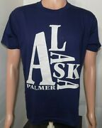 Palmer Alaska Vintage T-shirt Xl Spell Out Big Jumbled Letters 1980and039s Usa