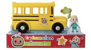 Cocomelon Musical Yellow School Bus Plays Music Jj Figure Toy Wheels On The Bus