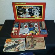 Vintage 1938 Ac Gilbert And Co. No 8-1/2 All Electric Erector Set In Metal Case