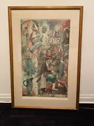 1968 Mid Century Modern Framed Print, Butterfly People David Driesbach