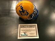Cecil The Diesel Collins Mcneese State Cowboys Mini Helmet Coa Dolphins
