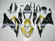 Fairing Gold Black Injection Abs Plastic Fit For Kawasaki 2013-2018 Zx6r 636 10