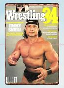 Magazine Cover Wrestling 1984 Jimmy Snuka Metal Tin Sign Old Advertising Signs