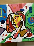 Basquiat Style Hand Painted Abstract Woman Picasso Oil Painting Cubist Portrait