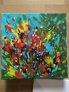 Pollock Style Impressionist Painted Abstract Flowers Picasso Style Oil Painting