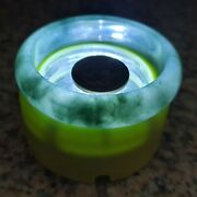 54mm Certified Type A Icy Jadeite Bangle Ice Green Floating Flower Old Mine Jade