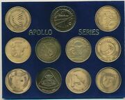 Project Apollo/apollo Series 11 Piece Medal Set-comes With Holder-nice Free S/h