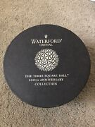 Waterford Crystal Christmas Ornament - 2008 Times Square Light - 100 Years