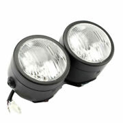 Motorcycle 4and039and039 Head Light Twins Dual Headlight Dirt Bike Double Headlamp Touring