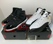 2008 Nike Air Jordan 11 Xi 12 Xii Bred Taxi Size 5y Cdp Collezione Countdown 4.5