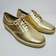 Easy Spirit Anti Gravity Gold Tennis Oxford Lace Up Shoes Womenand039s Size 7.5