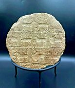 Ancient Akkadian Antiquities Clay Terracotta Pottery Seal Stamp Inscription