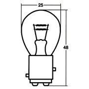Double Sphere S25/bay15d 12v 18/5w A4873 Clear Honda Stanley Stop Lamp M1696