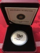 2010 5 Silver Piedfort Maple Leaf - Pure Silver Coin Royal Canadian Mint