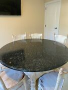 Round Granite Kitchen Table About 60 Diameter 1.25 Thick Table Top