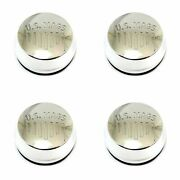 4x Us Mags Polished Silver Wheel Center Hub Caps 2-11/16od Snap-in