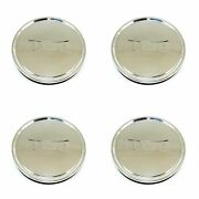 4x Dub Polished Silver Wheel Center Hub Caps 3-1/8od Snap-in