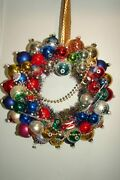 Vintage Ornament Handmade Christmas Wreath Holiday Kitsch Toy Soldiers 15