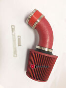 All Red Coated Air Intake System Kitandfilter For 1993-97 Isuzu Rodeo 2.6 4-cyl