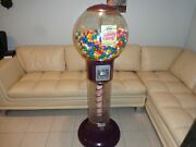 Giant Spiral 25 Cent Gumball Machine Working Coin Op ==local Pickup==