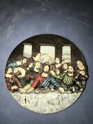 Last Supper 3d Colored Ceramic Plate 7.5 Inch Jesus And Disciples