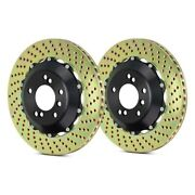 For Audi Rs4 07-08 Brembo Gt Series Cross Drilled 2-piece Front Brake Rotors