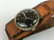 Vintage Pilot Original Zenith Military Wwii Cal.106 Black Swiss Watch 40and039s