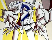 Roy Lichtenstein Los Angeles Olympic 1984 Offset Litho Original First Printing