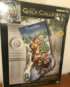 Dimensions Christmas Stocking Counted Cross Stitch Kit Victorian Bears 8753 Nip