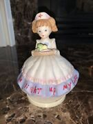 Nurse Bisque Figurine Music Box Plays You Light Up My Life 6andrdquo See Video