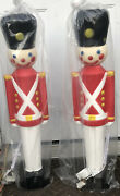 New Set Of Two Vintage Blow Mold Toy Soldier