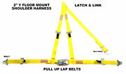Vw Sand Rail 3 Point Seat Belt Latch And Link Buckle Floor Mount Y Harness Pink