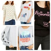 Womens Juniors Movie Film Tv Show Character Graphic T Shirts Tops Designs Print