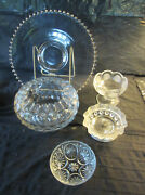 Collectible Clear Glass Mixed Patterns Candlewick American Fostoria Avon Coin