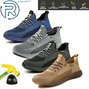 Menand039s Work Safety Shoes Steel Toe Bulletproof Tpr Boots Lightweight Sneakers