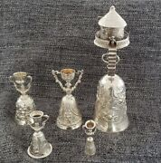 Unique Collection Of 5 Antique Silver European Wager Or Loving Cups Circa 1870s