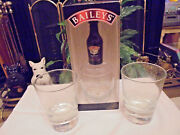 3 Baileys Glasses Plus I Empty Miniature In A Christmas Box.