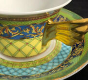 Versace Rosenthal Studios Russian Dream Tea Or Coffee Cups And Saucers Set Of 4