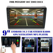 9 Android 10.1 Car Stereo Radio Gps Navigation Mp5 4-core 1+16g For Peugeot 307