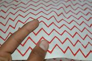 Indian Hand-block Print_1403 Striped Fabric White And Red 100 Yard 100cotton Fab