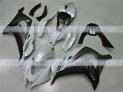 Fairing Plastic Fit For Kawasaki Zx10r 2016-2018 Abs Injection Pearl White Black