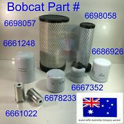 Filter Service Kit For Bobcat A300 T250 T300 T320 V3800 Oil Air Fuel Hydraulic
